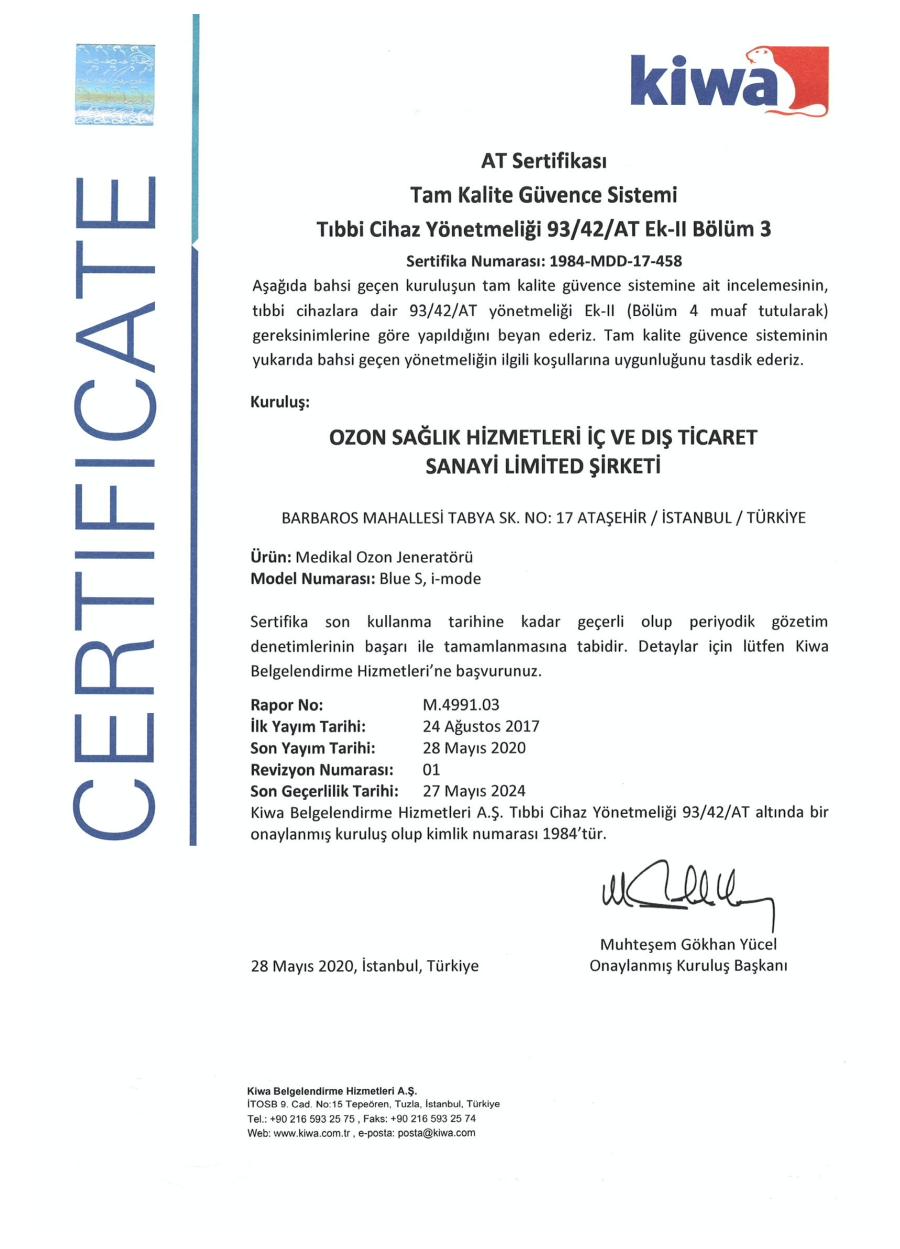 Belgelerimiz - Ozon Sağlık Hizmetleri