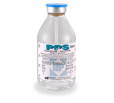 PPS Citrate - Vacuum Glass Bottles - Ozon Health Services