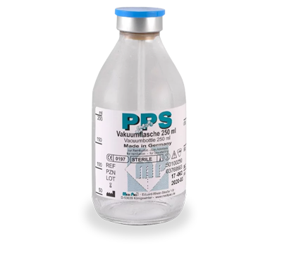 PPS Citrate Free - Vacuum Glass Bottles - Ozon Health Services